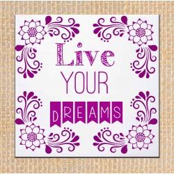 "Azulejo frase ""Live Your..."